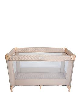 My Babiie My Babiie Blush Quilted Travel Cot Picture