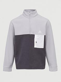 topman-polar-fleece-14-zip-sweat-ndash-black