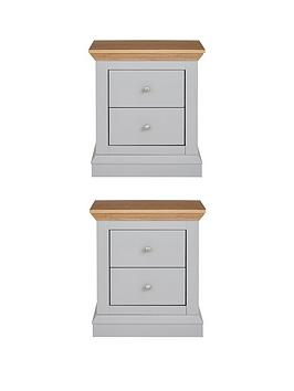 Very Hanna Set Of 2 Bedside Chests Picture