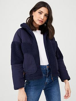v-by-very-faux-shearling-fleece-panelled-jacket-navy