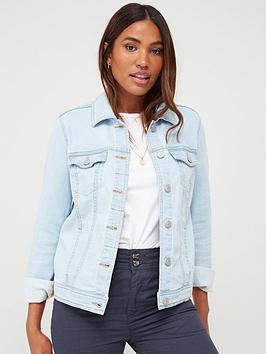 V by Very V By Very Denim Western Jacket - Bleach Picture