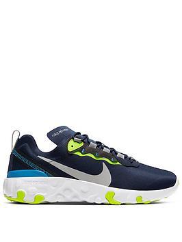 Nike Nike Renew Element 55 Junior Trainer - Navy Yellow Picture