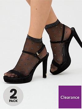 pretty-polly-2-pack-fashion-socks-blacksilver