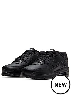 nike-air-max-90-leather-junior-trainer-black