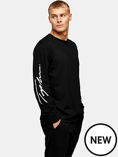 topman-topman-signature-printed-long-sleeve-t-shirt