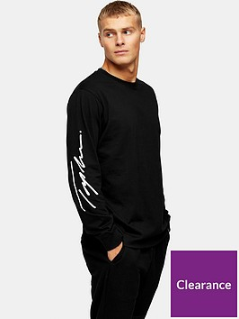 topman-topman-signature-printed-long-sleeve-t-shirt