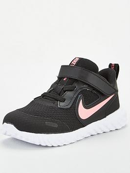 Nike Nike Revolution 5 Infant Trainers - Black/Pink Picture