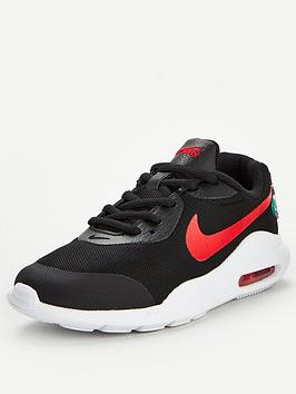 Nike Nike Air Max Oketo Melted Crayon Junior Trainer - Black Red Picture