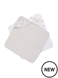 v-by-very-baby-unisex-2-pack-lamb-premium-towels-cream