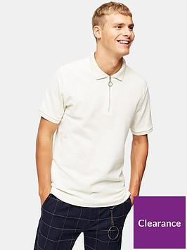 topman-zip-short-sleeve-polo-ecru