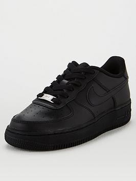 Nike Nike Air Force 1 Junior Trainers - Black Picture