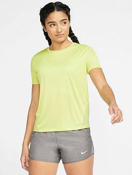 Nike Nike Running Miler Tee - Limelight Picture