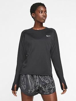 Nike Nike Running Pacer Ls Top - Black Picture