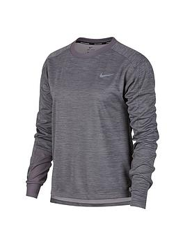 Nike Nike Running Pacer Long Sleeve Top - Grey Picture