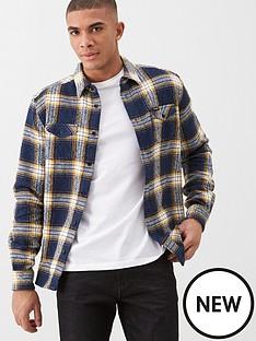 wrangler-pocket-heavy-twill-check-shirt