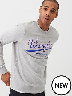 wrangler-chest-logo-sweatshirt-grey-marl