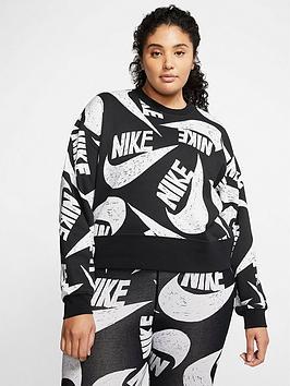Nike Nike Nsw Icon Clash Sweatshirt (Curve) - Black Picture