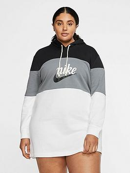 Nike Nike Nsw Varsity Hooded Dress (Curve) - Black/White Picture
