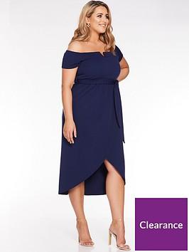 quiz-curve-navy-bardot-v-bar-wrap-dress