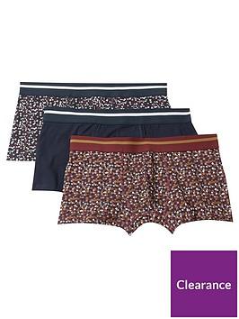 burton-menswear-london-3-pack-ditsy-floral-print-trunks-navy