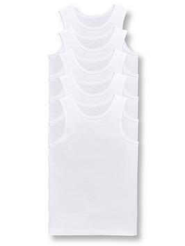 V by Very V By Very Boys 5 Pack Sleeveless School Vests Picture