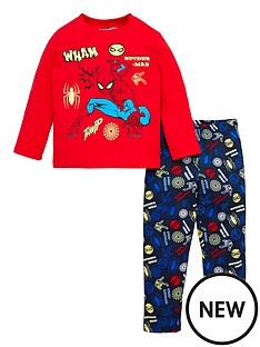 spiderman-glow-in-the-dark-pyjamas-red