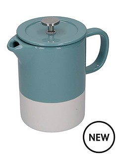 la-cafetiere-barcelona-retro-8-cup-ceramic-cafetiegravere-ndash-blue