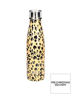 built-hydration-double-walled-stainless-steel-water-bottle-ndash-leopard-print