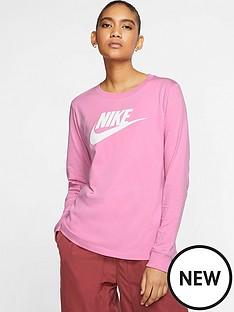 nike-nsw-essential-icon-futura-long-sleeve-top-flamingonbsp