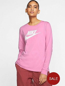 nike-nsw-essential-icon-futura-long-sleeve-top-flamingonbsp