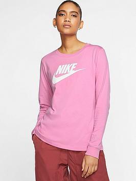 Nike Nike Nsw Essential Icon Futura Long Sleeve Top - Flamingo Picture