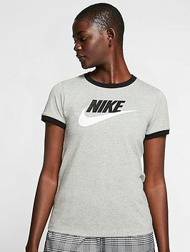 Nike Nike Nsw Futura Ringer Tee - Dark Grey Heather Picture