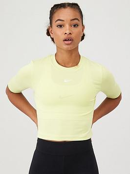 Nike Nike Nsw Essential 3 Quarter Sleeve Top - Limelight Picture