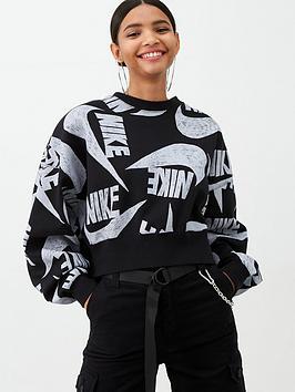 Nike Nike Nsw Icon Clash Sweat Top - Black Picture