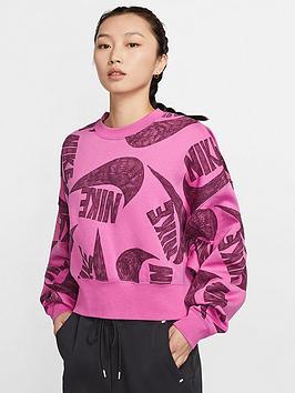 Nike Nike Nsw Icon Clash Sweatshirt - Fuchsia Picture