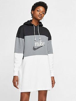 Nike Nike Nsw Varsity Hooded Dress - Black/White Picture