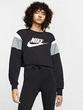 Nike Nike Nsw Heritage Sweatshirt - Black Picture