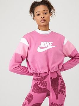 Nike Nike Nsw Heritage Sweat Top - Fuchsia Picture
