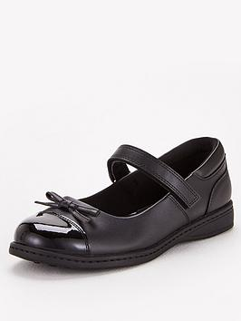 V by Very V By Very Older Girls Mary Jane Leather School Shoe - Black Picture