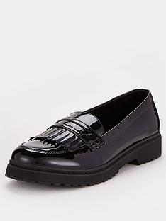 v-by-very-girls-tassel-leather-school-loafer-black