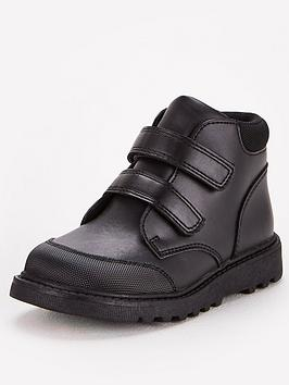 V by Very V By Very Toezone Younger Boys Twin Strap Leather School Boot -  ... Picture