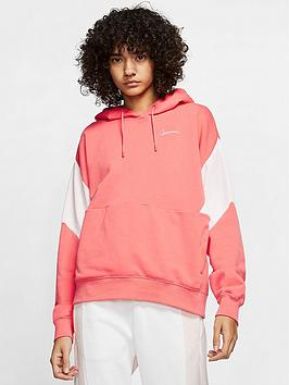 Nike Nsw Colourblock Pullover Hoodie - Ember