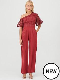 little-mistress-one-shoulder-lace-jumpsuit-ruby