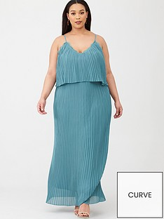 little-mistress-curve-pleated-maxi-dress-with-lace-trims-blue