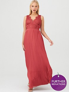little-mistress-eyelash-lace-pleated-bridesmaid-dress-pink