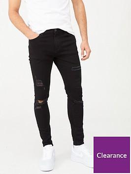 11-degrees-essential-super-stretch-distressed-skinny-jeans-black