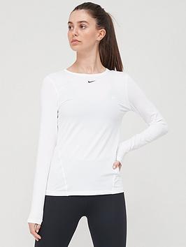 nike-pro-training-long-sleeve-top-white
