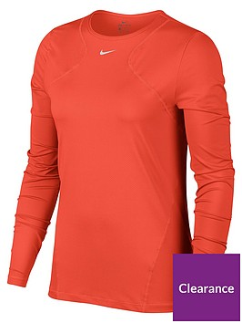 nike-pro-training-long-sleeve-top-red