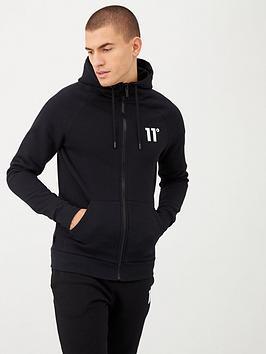 11 Degrees   Core Full Zip Hoodie - Black