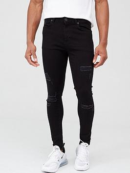 11 Degrees    Essential Super Stretch Distressed Skinny Jeans